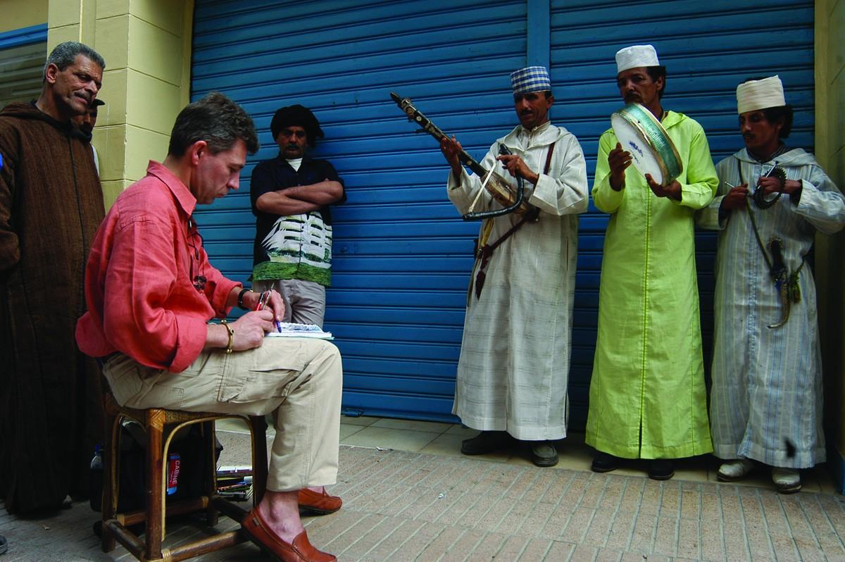 Musiciens à Essaouira, Maroc - 2005
