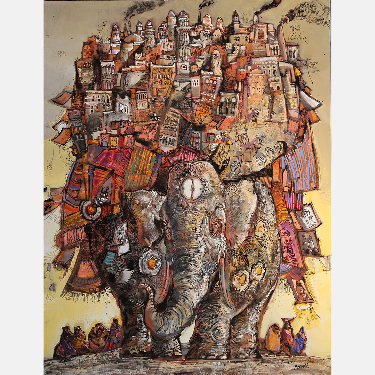 Walking Medina ou La cité déboussolée 116 x 89 cm - 2015