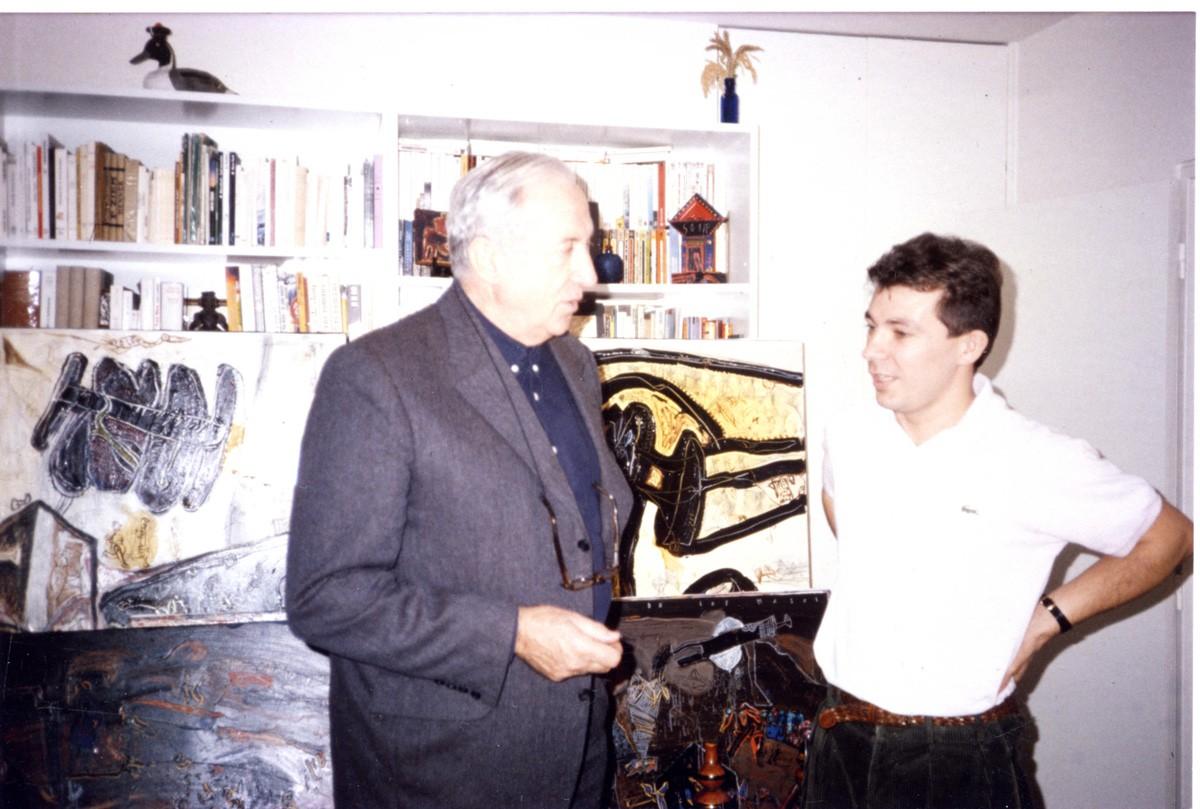 1991 Pierre Soulages dans mon atelier