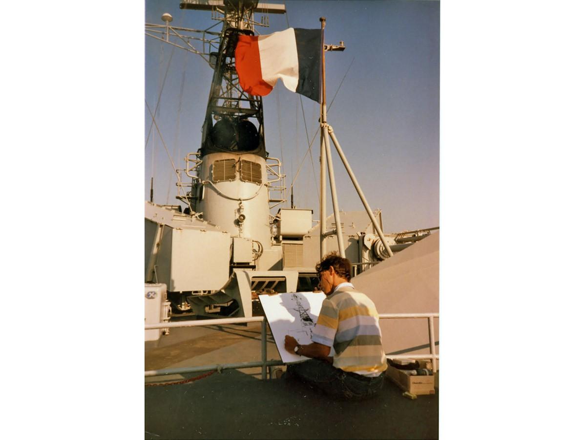 1983, Embarquement en Méditerranée Marine Nationale