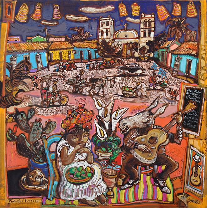 Sérénade à Baracoa 80 x 80 cm, Courtesy Galerie Rollin