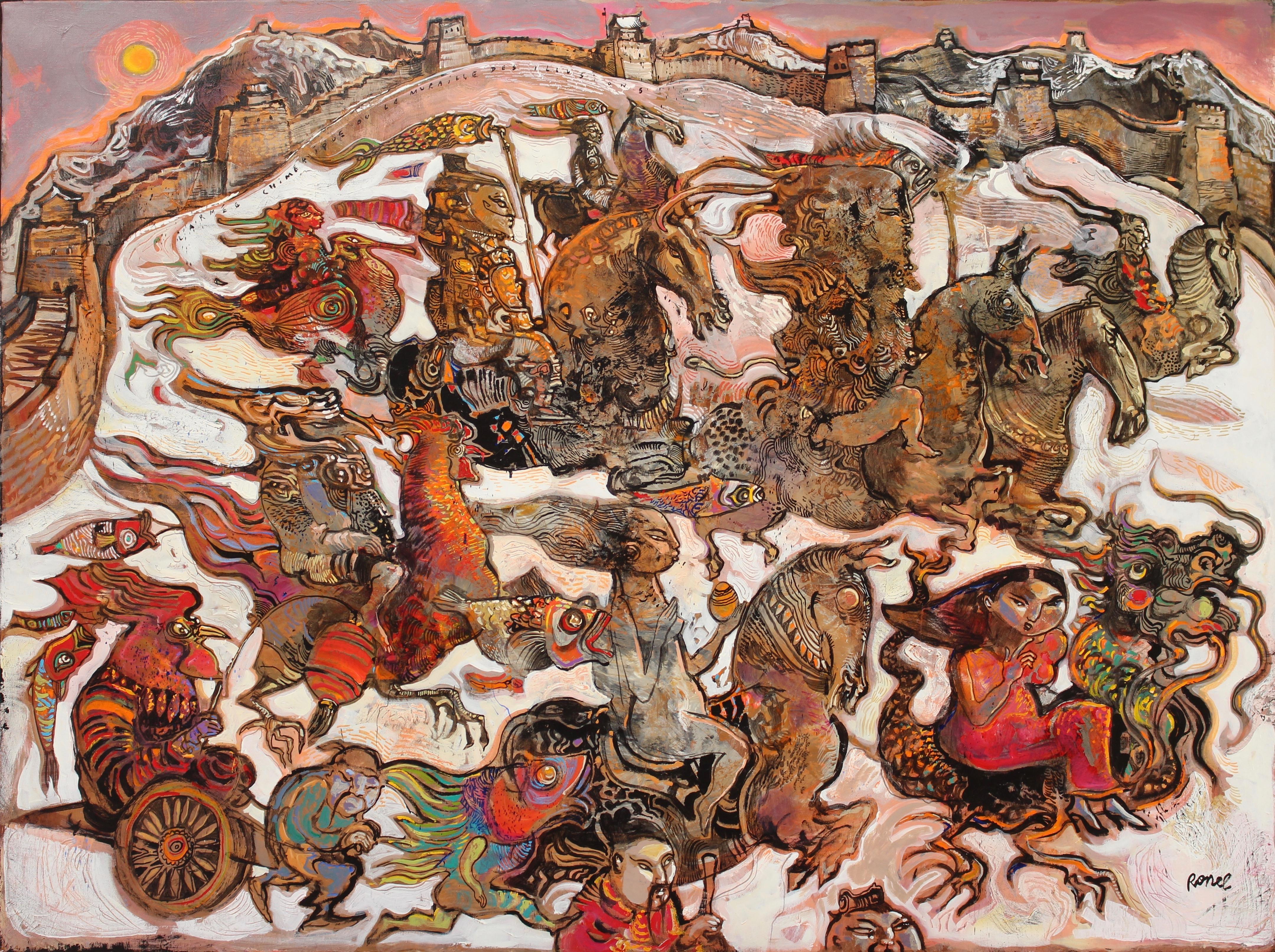 L'armée chimérique ou la muraille des illusions, 97 x 130 cm